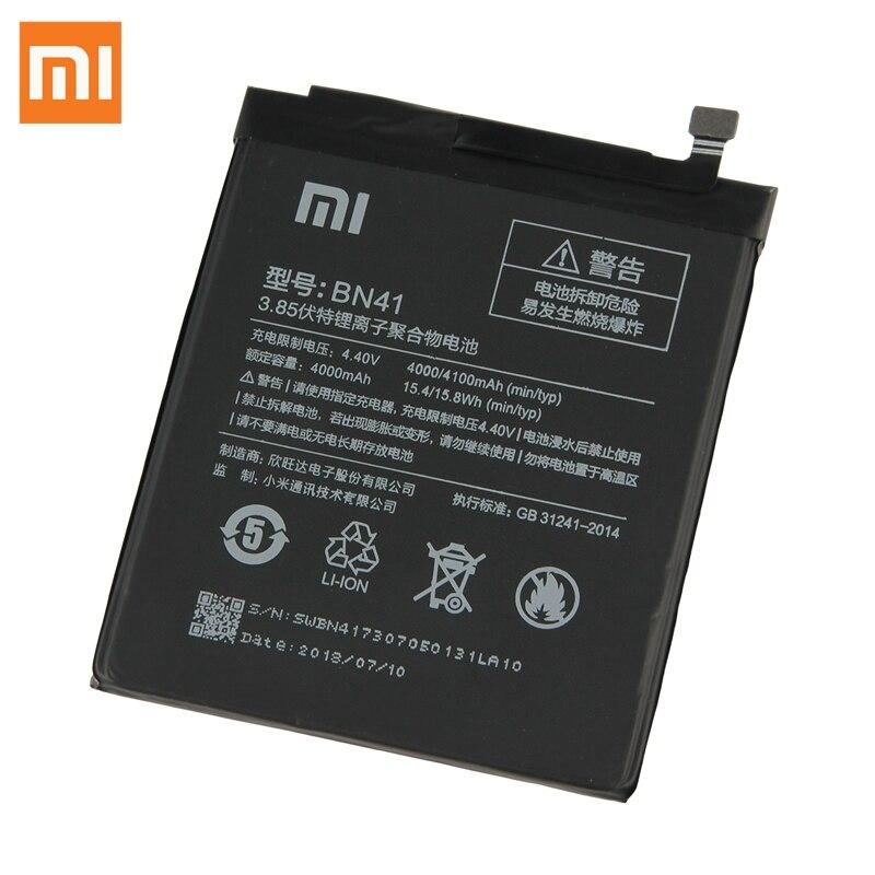Оригинальные Замена BN41 Батарея для Xiaomi Redmi 4 Hongmi Note4 Pro Примечание 4X High-end версия MTK Helio X20 4100 mAh