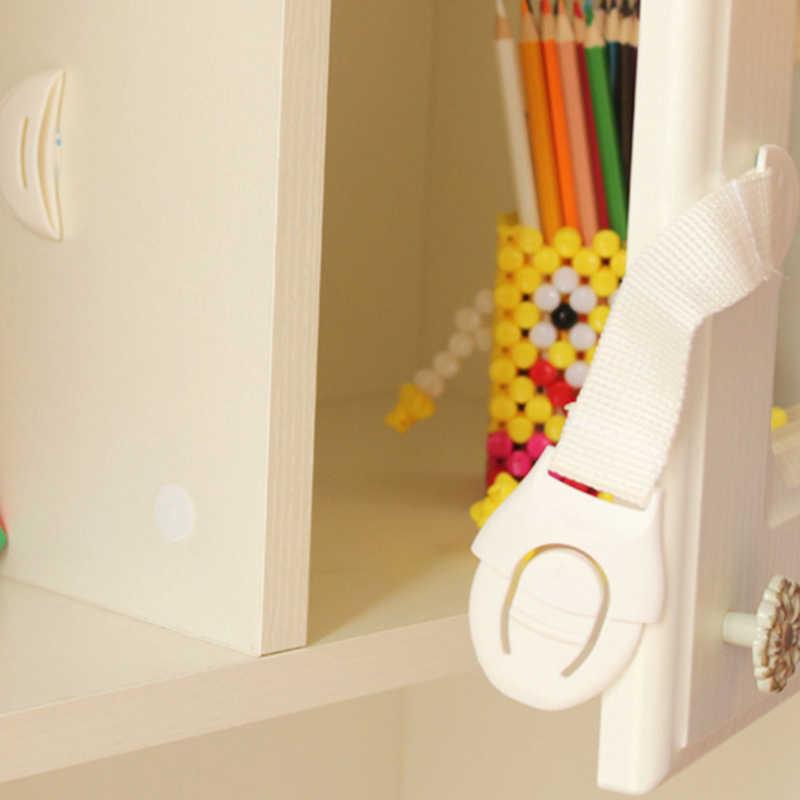 5 Cái/bộ Bảo Vệ Cửa Tủ Tủ Quần Áo Tủ Lạnh An Toàn An Toàn Dây Vải Khóa Cho Trẻ Em Bé Ngăn Kéo An Ninh