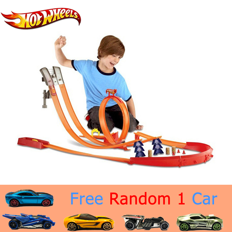 Popular Toys Hot Wheels Accessories Roundabout 120cm Track Toy Kids Toys Model Plastic Miniatures Cars Track Educational Slot Car Toy Bct38