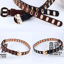 Fashion Punk Belts For Women Casual Alloy Pin Buckle PU leather Waistband Female Jeans Waist Belt