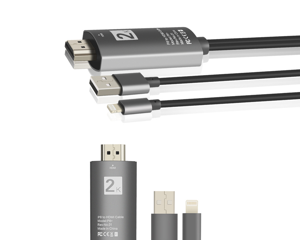 Lingthing To HDMI Digital AV Video Adapter Dock to HDMI HD TV HDTV AV Cable Adapter for iPad Air iPhone 7 7 Plus iPad Mini in Computer Cables Connectors from Computer Office
