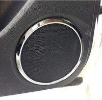 Chrome Speaker Cover Trim Side Door Stereo Bezel Collar Ring For Nissan X Trail 2015 2016