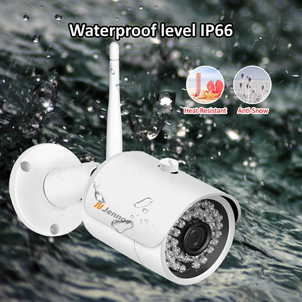 """Jennov 2MP 1080 P домашняя камера безопасности Система беспроводной CCTV Wifi видеонаблюдение NVR 1080 P P2P HD 12 """"ЖК-монитор IP66 Открытый"""