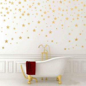 Image 1 - 50 sztuk/opakowanie Mutiple rozmiar naklejka ścienna w kształcie gwiazdy Art złota gwiazda naklejki wymienny gwiazdy dziecko wystrój żłobka gwiazdy ściany naklejki P2 C