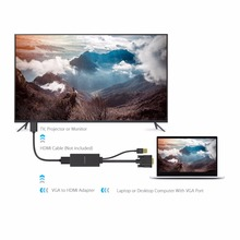 Converter Cable Adapter Audio 1080P 2K VGA