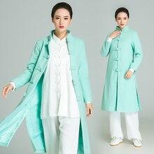 Woolen Women Winter Robe Handmade Tai Chi Uniform Wushu, Kung Fu,martial Art Suit Chinese Stlye Clothes