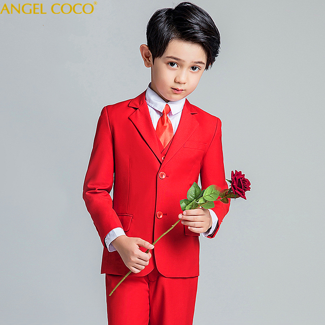 5f591f5cc57 2019 New Fashion Red Baby Boys Suit Kids Blazers Boy Suit For Weddings Prom  Formal Spring Autumn Wedding Dress Boy Suits Garcon