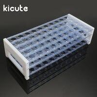 Kicute 1 stücke 13mm Kunststoff Reagenzglasständer 40 Loch Halter Unterstützung Bürette Stehen Labor reagenzglas Ständer Regal labor Schulbedarf