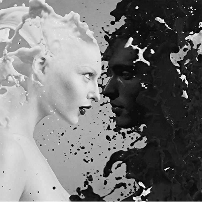מותאם אישית שחור לבן חלב מאהב תמונה טפטים לקיר 3 d סלון חדר שינה חנות בר קפה קירות רול papel דה פארדה