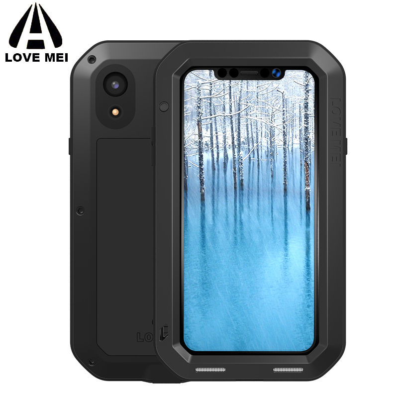 online store ba2c8 e8f0a US $28.0 11% OFF|LOVE MEI Aluminum Metal Armor Case for iPhone XS Max XR X  Shockproof Rugged Full Body Phone Case For Apple iPhone XR 2018 XSmax-in ...