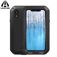 LOVE MEI Aluminum Metal Armor Case for iPhone XS Max XR X Shockproof Rugged Full Body Phone Case For Apple iPhone XR 2018 XSmax