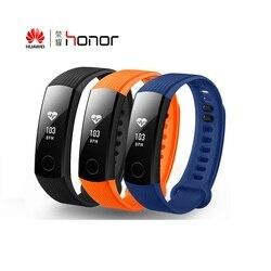 Huawei Honor Band 3 Honor band 4 bracelet intelligent surveillance de la fréquence cardiaque en temps réel 5ATM étanche pour la natation Fitness Tracker