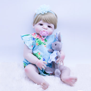 realistic 22 inches baby doll reborn silicone baby dolls non-toxic vinyl bath toy girl's favorite gift DOLLMAI new bebes reborn