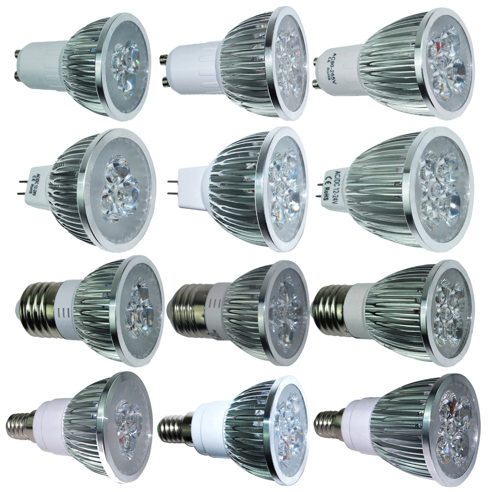 Ultra Bright 9W 12W 15W GU10 MR16 E27 E14 LED Bulb 85-265V Dimmable Led Spotlights Warm/Natural/Cool White lamp 110V 220V DC 12V