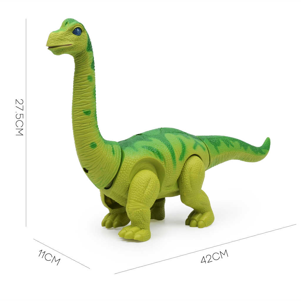 Bateria operado andando brinquedo dinossauro brachiosaurus ovo que coloca figura de ação brinquedos para crianças natal presente aniversário verde