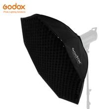 "Godox Softbox 120cm 47 ""אוקטגון כוורת רשת Softbox רך תיבת עם Bowens הר לסטודיו פלאש"