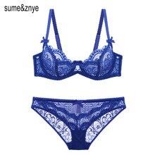 Здесь можно купить  European sexy lace half bra cup thin section transparent underwear net yarn temptation girl bra