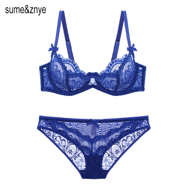 a917a84a72 European Sexy Lace women Push Up Bra Sets transparent Bra And Panty French  Romantic Intimate Underwear
