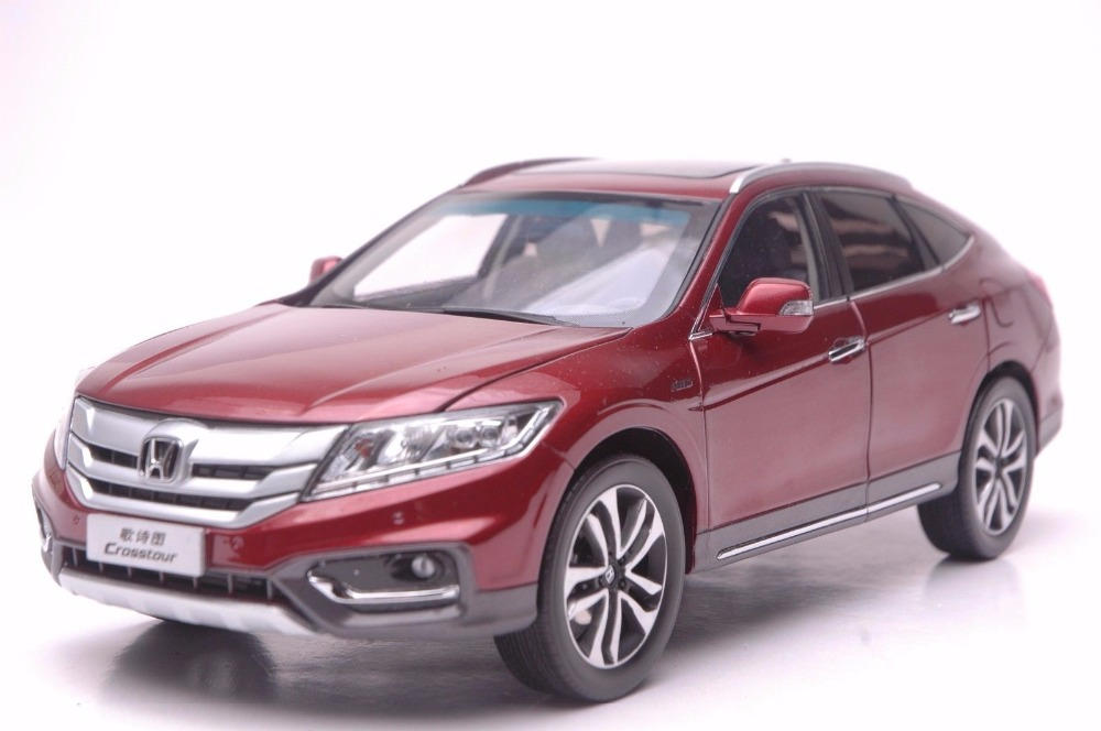 1:18 Diecast Model for Honda Crosstour 2014 Red Sportback Alloy Toy Car Miniature Collection Gifts CRV CR V red mitsubishi lancer fortis diecast model show car miniature toys classcal slot cars