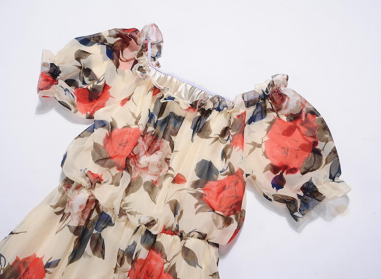 Elegant Sweet Chiffon Printed Stylish Sexy Dress