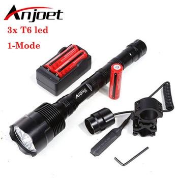 Sets Powerful 1-Mode Tactical Flashlight light 6000Lm XML 3xT6 LED 18650 Lantern Torch+Battery+Charger+Remote Switch+Gun Mount sitemap 19 xml
