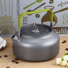 Tragbare 1.2L Teekanne Wasserkocher Aluminium Wasserkocher Ultra-light Camping Überleben Wasserkocher Tee Kaffeekanne Eloxiert Aluminium Outdoor