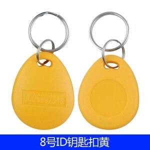 Image 4 - 125khz RFID EM4100 TK4100 porte clés étiquettes de jeton porte clés carte didentité en lecture seule contrôle daccès carte RFID