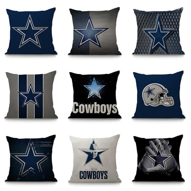 Dallas Cowboys Cushion Cover Sofa Car Throw Pillow Case 40x40 Cm Adorable Dallas Cowboys Decorative Pillow