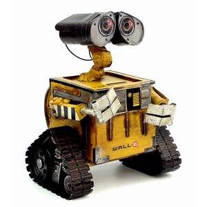 Image 4 - ウォール e ロボット映画モデル冷間圧延鋼金属アクションフィギュア玩具人形 robote 手作り工芸品 juguetes figuras ゴキブリ壁 e