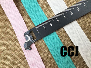Image 4 - 36 צבעים 20mmx50yard חגורה כותנה אריג אדרה גבתון סינר קלטת תפירת רצועת משלוח חינם