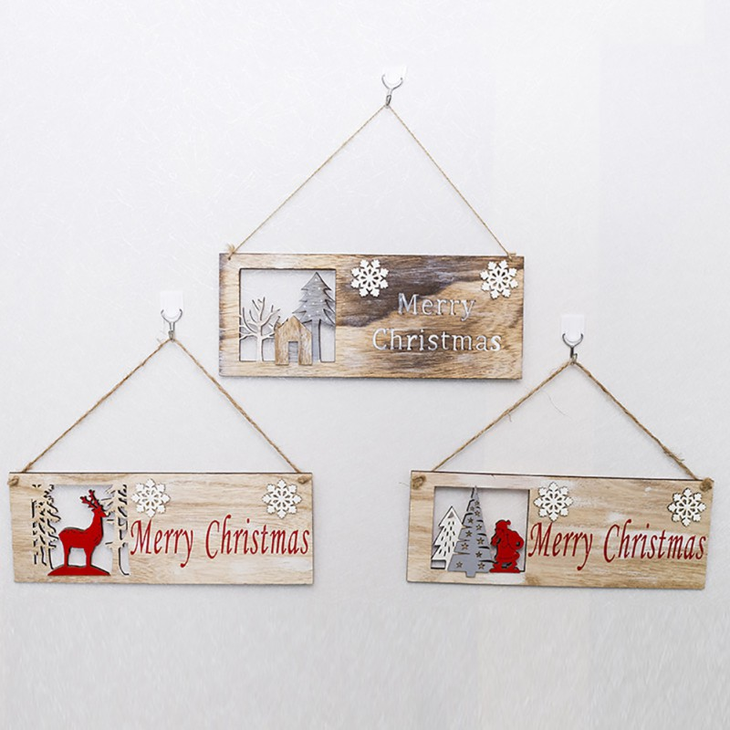 Merry Christmas Decorations Wooden Hollow Ornament Christmas Tree Hanging Pendant Decor Xmas Decoration Enfeites Natal For Home