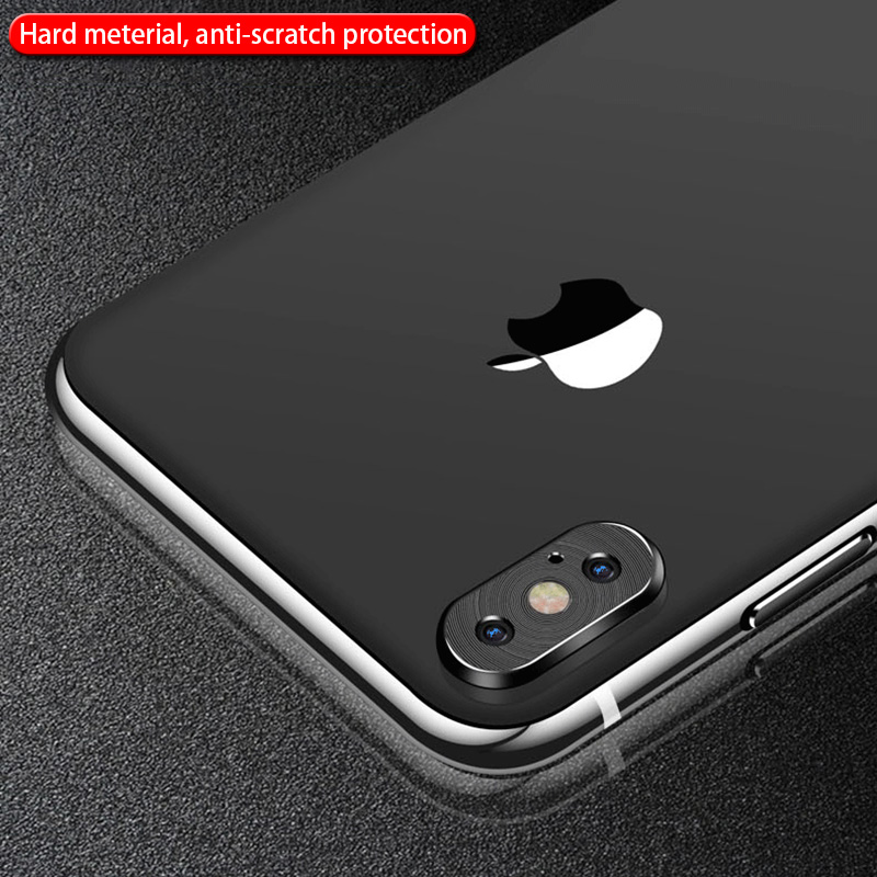 KIPX1118_5_Metal Camera Lens Protector for iPhone X XS XR XS Max 360 Full Protection Anti-scratch Camera Protective Cover