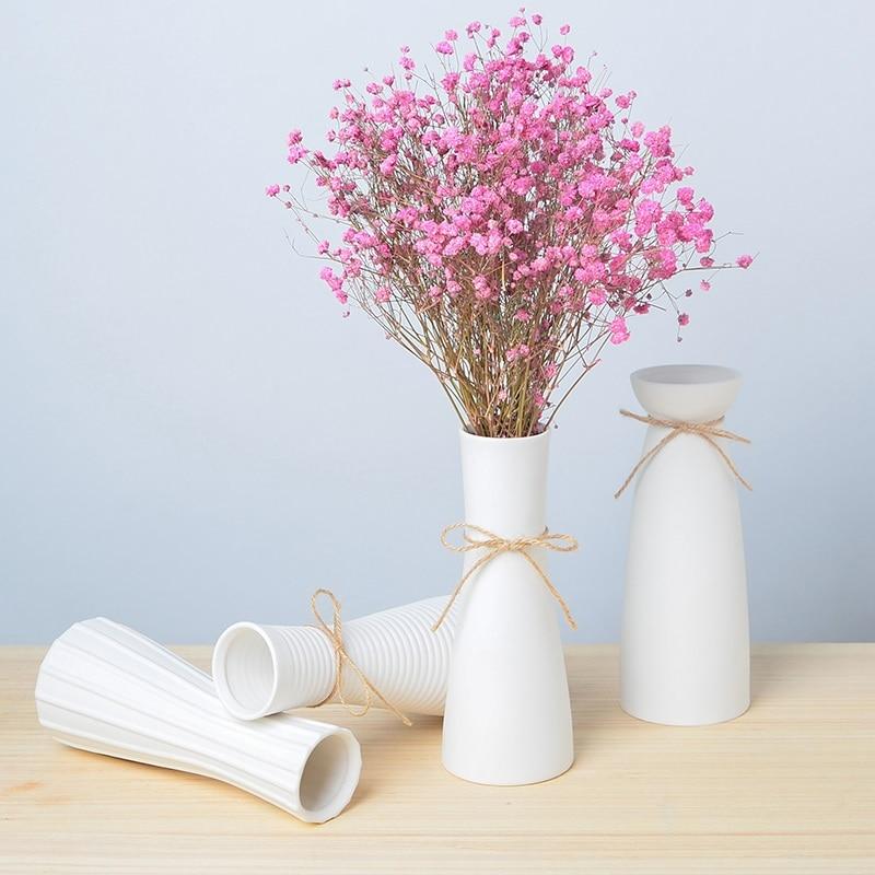 Fresh Mini Ceramic Small Vase Home Decor Gift Ideas And: Living Room White Porcelain Small Fresh Dried Flower