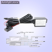 Free Shipping Car Led DRL Relay Daytime Light Source Relay Harness Auto Car Drl Controller On
