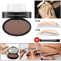 2017 New Professional Eye Brow Tint Makeup Brow Stamp with Eyebrow Enhancer Powder Waterproof Eyebrows Shadow Palette
