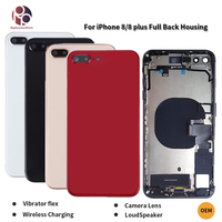 Wireless Charging Full Back Housing for iphone 8 8G 8Plus Middle Frame Chassis Assembly Battery Cover+Flex Cable+Vibrator OEM
