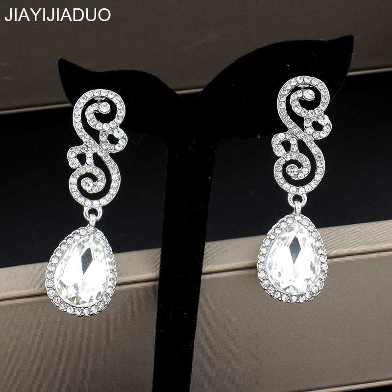 jiayi jiaduo Wedding jewelry earrings for glamour women accessories gifts gold/silver color dropshipping