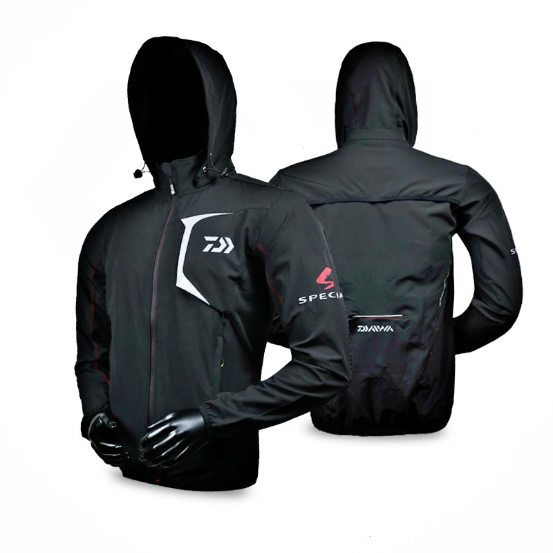 New Daiwa Fishing Jacket Pants+ Coat Man Waterproof Breathable Two piece Suit Hooded Sunscreen Daiwa Fishing Clothes