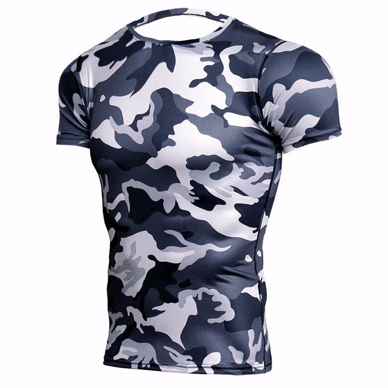 Plus Size 4XL Crossfit   T     Shirts   Men MMA Compression   Shirt   Rashguard Bodybuilding Camo   T     Shirt   Elastic Tops Fitness 3D   T  -  Shirts