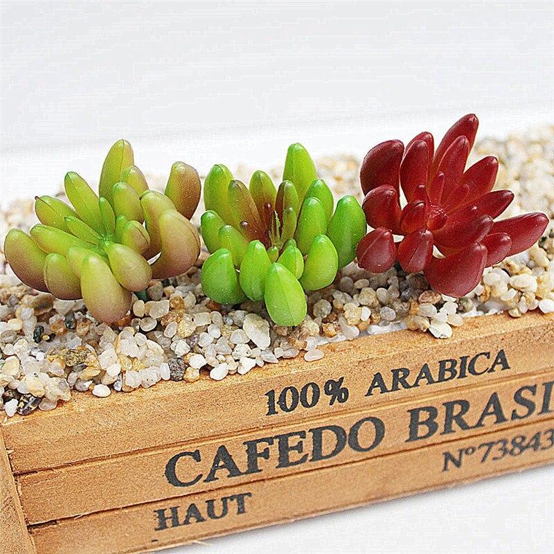 Artificial Plants Lotus Craft Simulation Plant Succulent Decorative Landscape Arrangement Fake Flower for Home Office Decoration