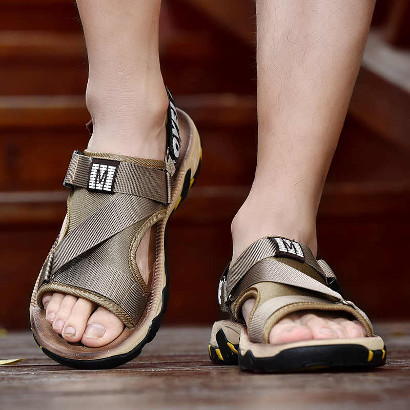 2019 новые мужские сандалии, летняя повседневная обувь из натуральных материалов, пляжные сандалии, мужские сандалии, мужская обувь, хорошая цена