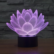 Acrylic Lotus Petal 3D Light USB Leds Table Lamp With Touch Sensor Night Light Decor Lampara Kid's Gift Bedroom Nightlights