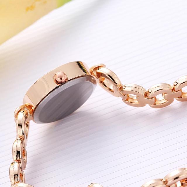LVPAI 2018 Watch Women Gold Vintage Luxury Clock Women Bracelet Watch Ladies Brand Luxury Stainless Steel Women Clock Gifts B50 4