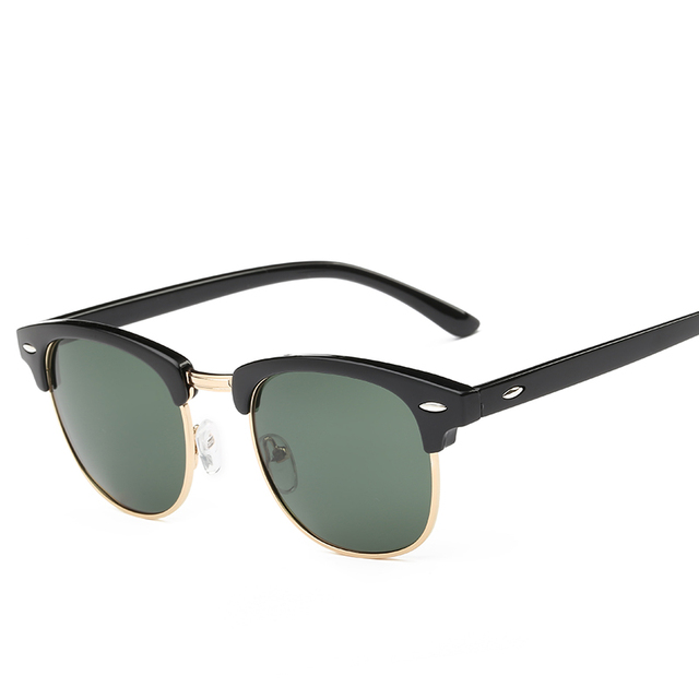Luxury Vintage Semi-Rimless Sunglasses