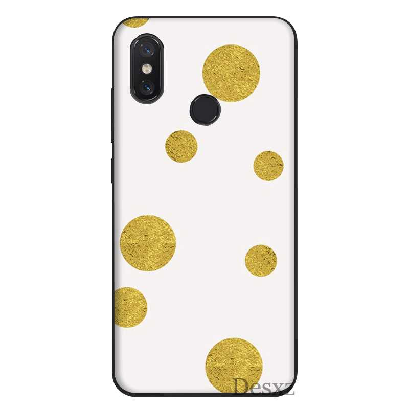 Мобильный чехол для телефона для Xiaomi Mi MAX, возраст 3, 6, 8, A2 Lite A1 A2 5X 6X F1 9 SE силиконовый чехол золотистый в горошек сумка оболочки корпуса