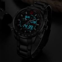 Silver Men's Watches NAVIFORCE Military Sport Watches