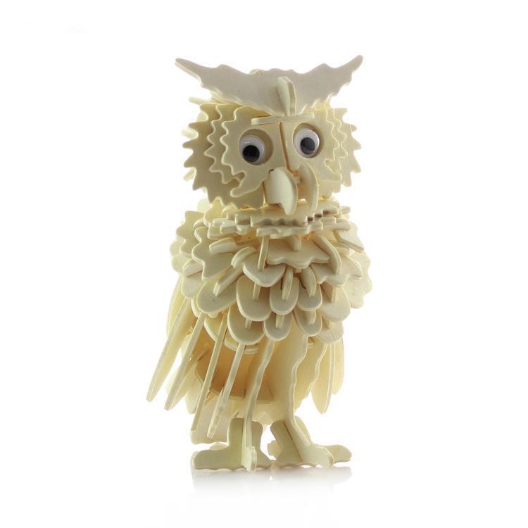 Детская 3D моделирование деревянные головоломки модель животного сова деревянные Игрушечные лошадки головоломки 3D образования Игрушечные ...