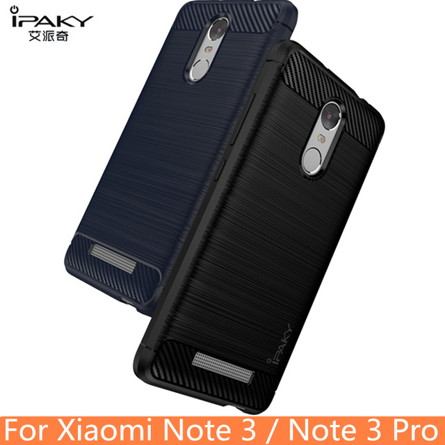 for Xiaomi Redmi Note 3 Case Original IPAKY Silicone Carbon Fiber Hybrid Protective Cover for Xiaomi Redmi Note 3 Pro Case Cover
