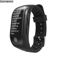 SENBONO  S908 Bluetooth GPS Tracker Wristband  IP68 Waterproof Smart Bracelet  Heart Rate Monitor  Fitness Tracker Smart Band