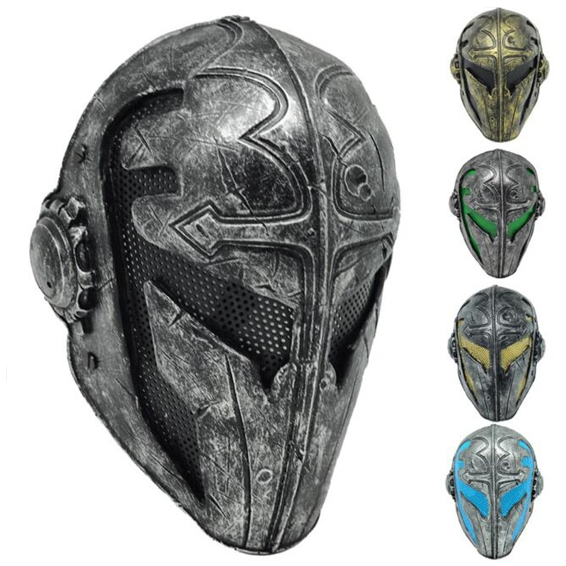 Tactics Paintball Airsoft Wire Mesh Templar Fabric Plastic Mask Game Mask